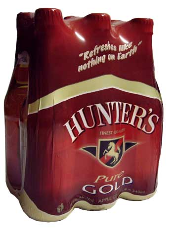 Hunters Cider Gold  (6 x 340ml bottles)