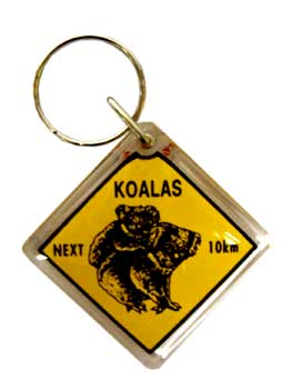 Keyring Koala Road Sign
