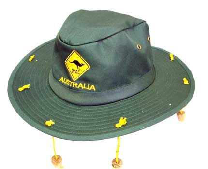 Slouch Hat - Kangaroo Road Sign Green