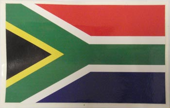 Stickers - South African Flag  (9 x 6cm)