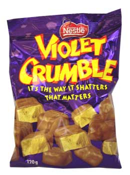nestle violet crumble bites chocolate from australia