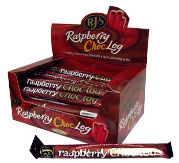 RJs Licorice - Raspberry Chocolate Log (40g)