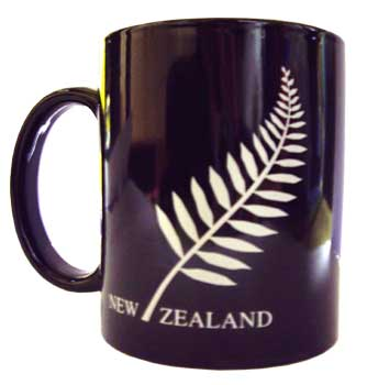 Mug - Black NZ Fern
