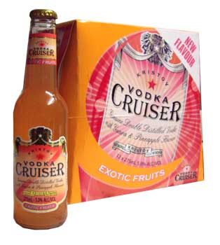 Vodka Cruiser - Exotic Fruits (12 x 275ml bottles)