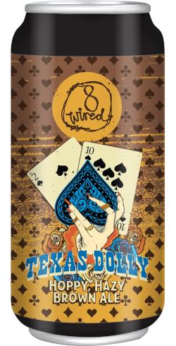 8 Wired Texas Dolly Hoppy, Hazy Brown Ale (440ml)