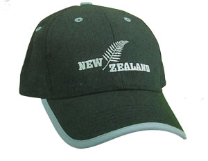 Cap - New Zealand Fern Black/Grey