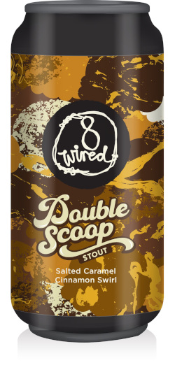 8 Wired Salted Caramel Cinnamon Swirl Double Scoop Stout (440ml)