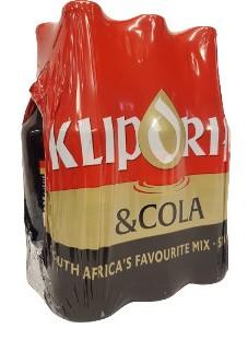 Klipdrift & Cola  (6 x 275ml bottles)