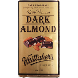 Whittakers Dark Almond Chocolate Block (250g)