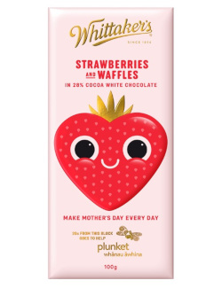 Whittakers Limited Edition - Strawberries & Waffles White Chocolate (100g)
