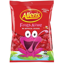 Allens Frogs Alive (190g)