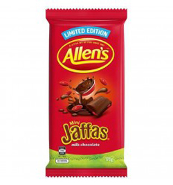 Allens Jaffas Chocolate Block (170g)