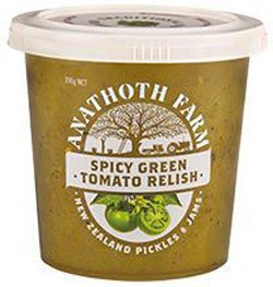 Anathoth Spicy Green Tomato Relish (390g)