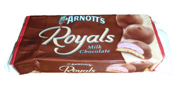 Arnotts Chocolate Royals Biscuits From Australia