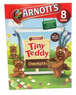 Arnotts Tiny Teddy Chocolate Multipack -  8 Packs (200g)