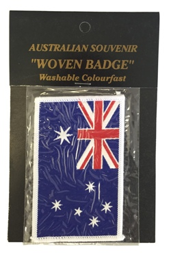 Australian Flag Sew on Patch (White Border)