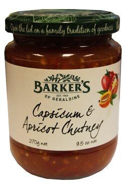 Barkers Capsicum & Apricot Chutney (245g)