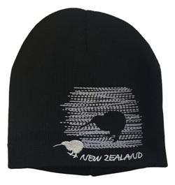 Beanie - Black Kiwi Silhouette