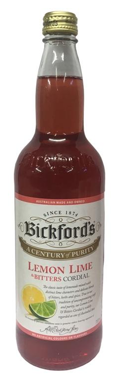 Bickfords Lemon Lime & Bitters Cordial (750ml)