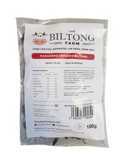 The Biltong Farm - Habanero Inferno Beef (100g)