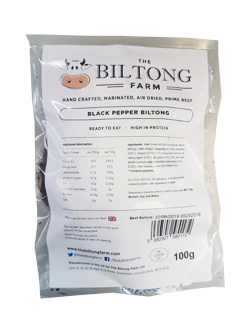 The Biltong Farm - Black Pepper Beef (100g)