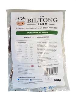The Biltong Farm - Tandoori Beef (100g)