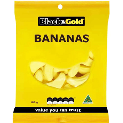 Black & Gold Bananas (200g)