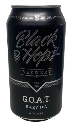 Black Hops G.O.A.T Hazy IPA (375ml can)