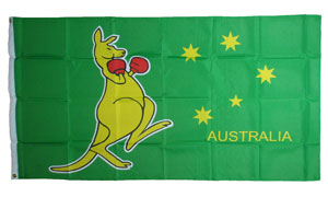Flag - Boxing Kangaroo (5ft x 3ft)