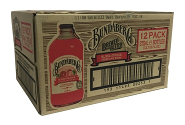 Bundaberg Blood Orange Stubby (12 x 375ml bottles)