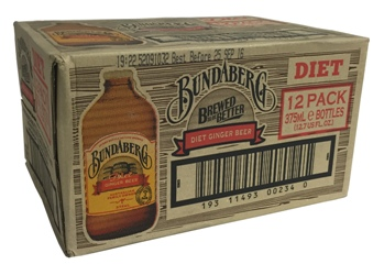 Bundaberg Diet Ginger Beer Stubby - Australian Import (12 x 375ml bottles)