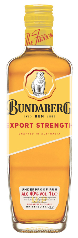 Bundaberg Rum Export Strength (1000ml)