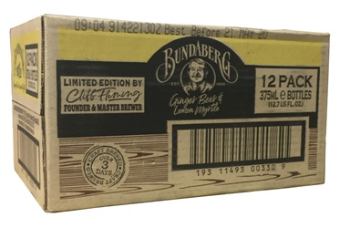 Bundaberg Ginger Beer with Lemon Myrtle - Australian Import (12 x 375ml bottles)