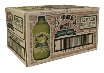 Bundaberg Lemon, Lime & Bitters Stubby (12 x 375ml bottles)