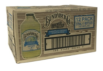 Bundaberg Pineapple Coconut - Australian Import (12 x 375ml bottles)