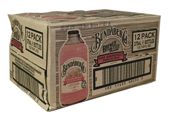 Bundaberg Pink Grapefruit Stubby (12 x 375ml bottles)