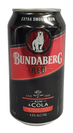 Bundaberg Red Rum & Cola Can (375ml)