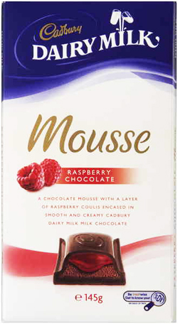 ... of raspberry coulis, all covered in rich and creamy Cadbury chocolate