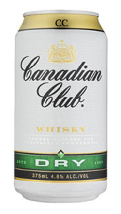 Canadian Club Whiskey & Dry (10 x 330ml cans)