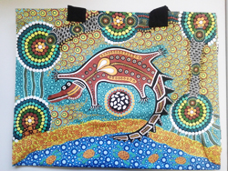 Canvas Bag - Aboriginal Art Crocodile