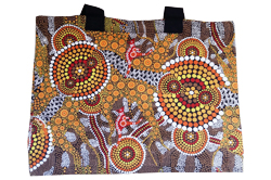 Canvas Bag - Aboriginal Art Kangaroo