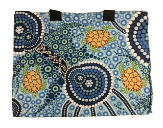 Canvas Bag - Aboriginal Art Turtles