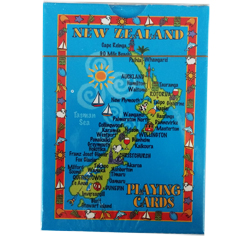 Playing Cards - NZ Map