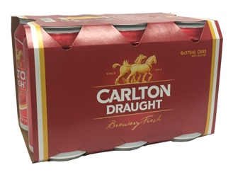 Carlton Draught (6 x 375ml Cans)