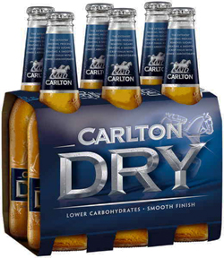 Carlton Dry (6 x 355ml bottles)