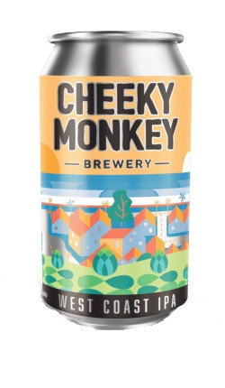 Cheeky Monkey West Coast IPA (4 x 375ml cans)