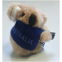 Clip-on Koala - I Love Australia (Brown)