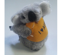 Clip-on Koala - I Love Australia (Grey)