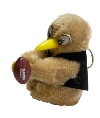 Clip-on Kiwi with Rugby Ball Key Ring - Black