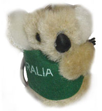 Clip-on Koala - I Love Australia Key Ring (Brown)
